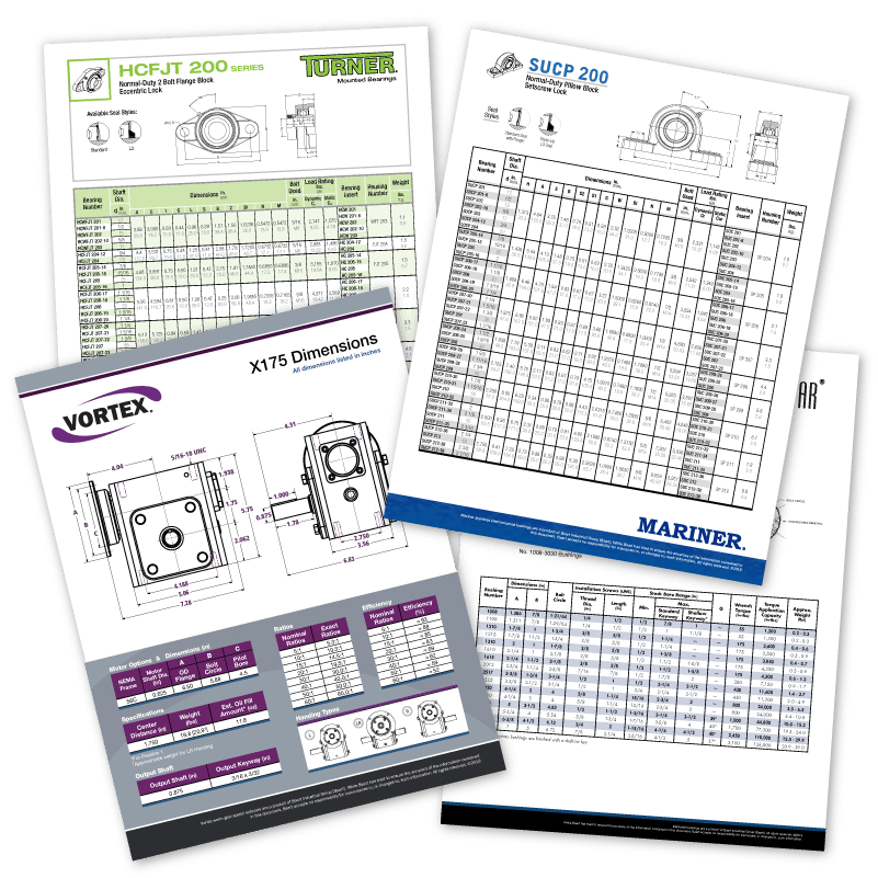 Baart Product Spec Sheets