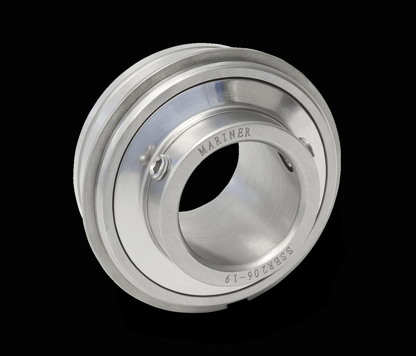 MRN SSER206 19 Bearing Insert Cylindrical OD Snap Ring Setscrew Lock