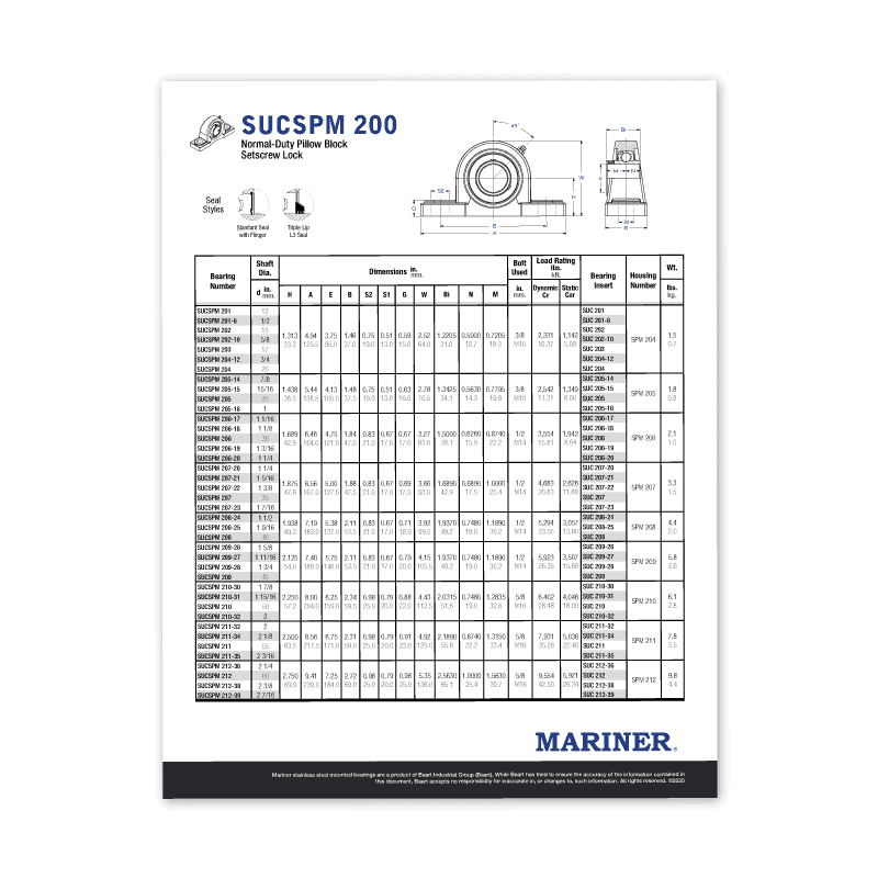 Mariner Spec Sheets Icon