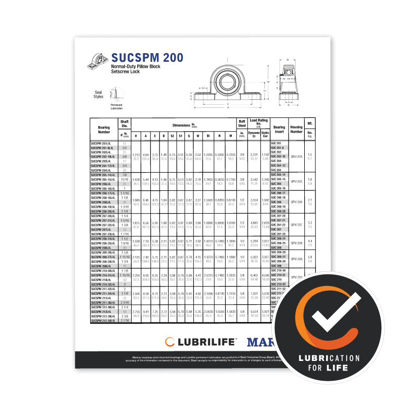 Mariner With LubriLife Spec Sheets Icon