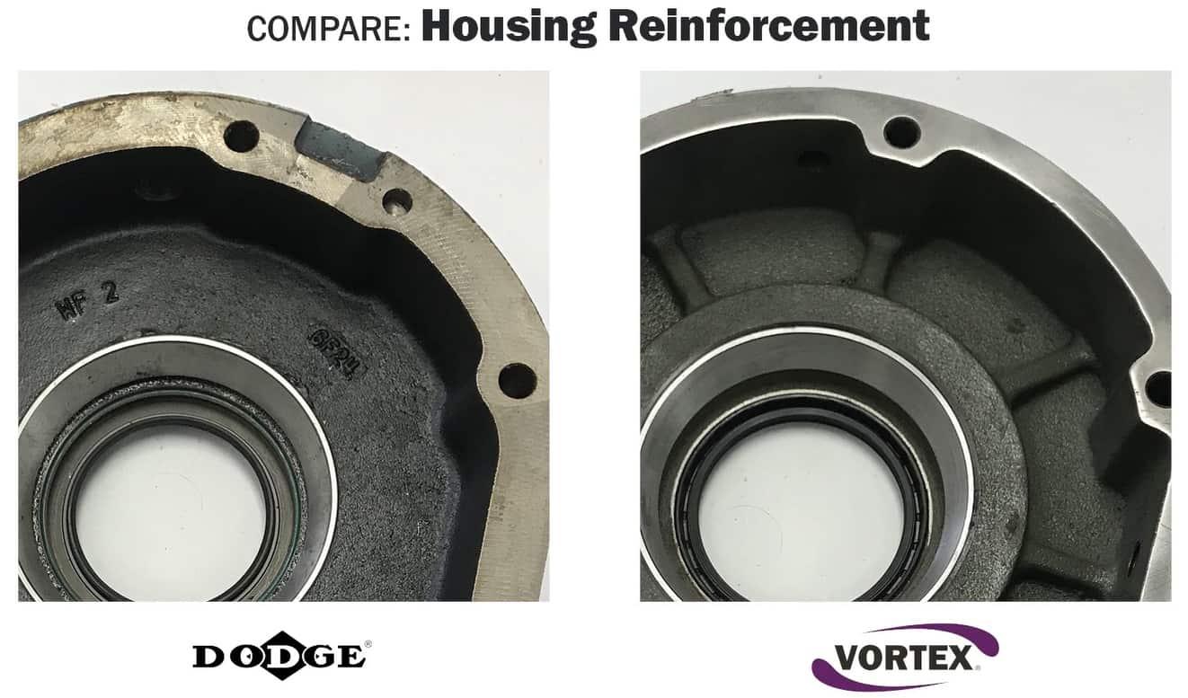 Vortex vs Dodge - Housing Reinforcement - Gussets