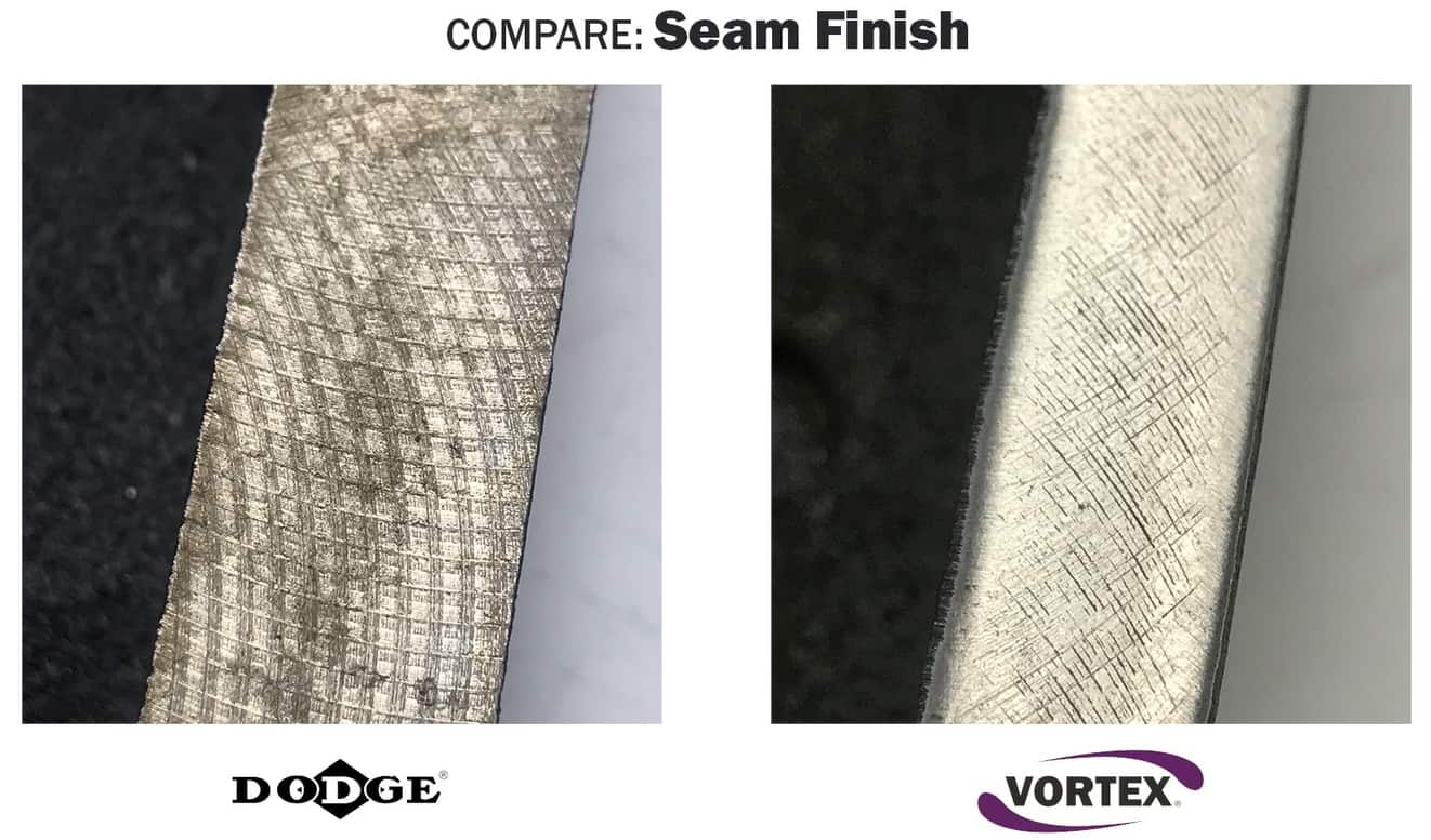 Vortex vs Dodge - Seam Finish